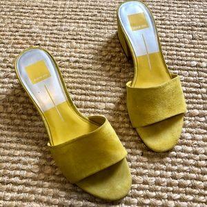 Dolce Vita Yellow Slides
